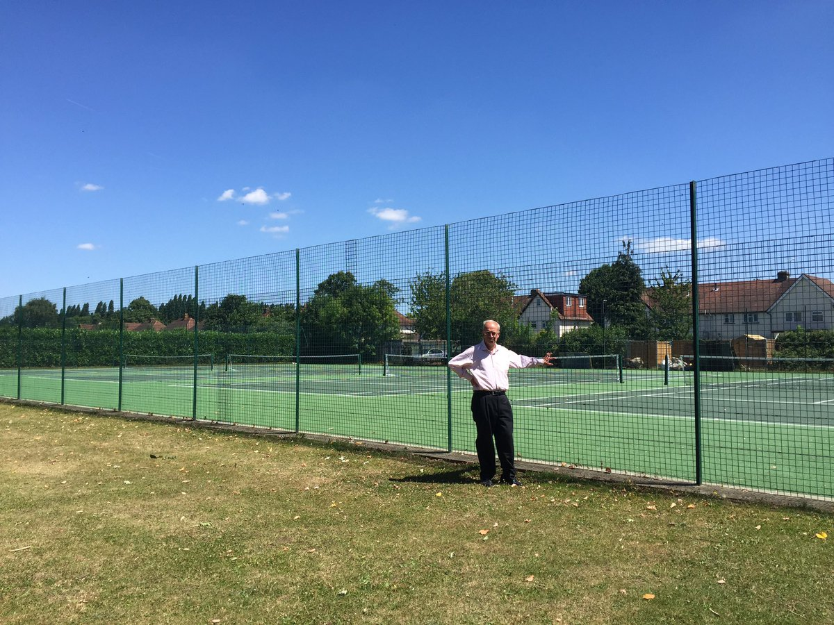Cllr John O'Reilly outside empty Coronation Rec courts