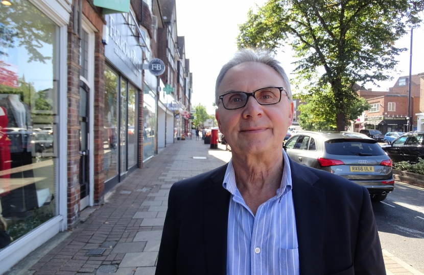 Dr Peter Szanto in Esher High Street