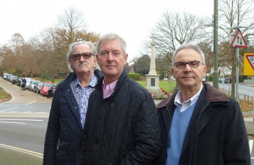 David Archer, Tim Oliver and county council candidate Peter Szanto