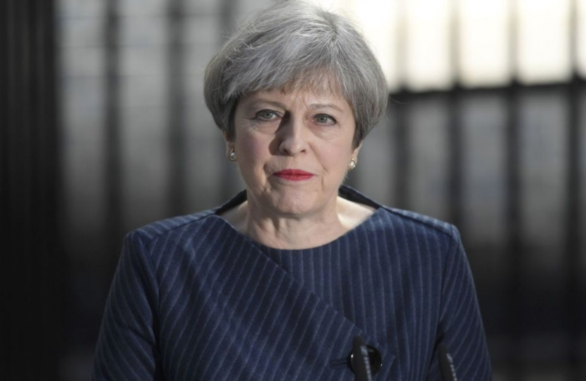 Prime Minister Theresa May in Downing Street