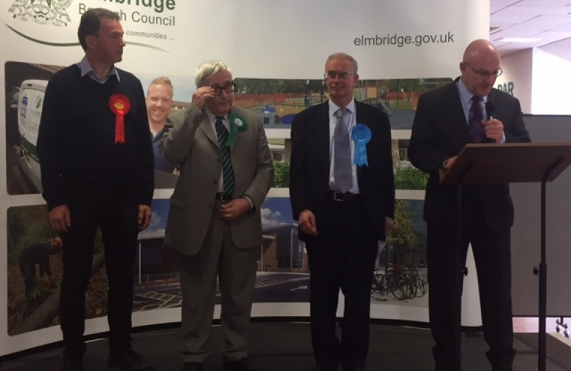 John O'Reilly's Hersham result is announced