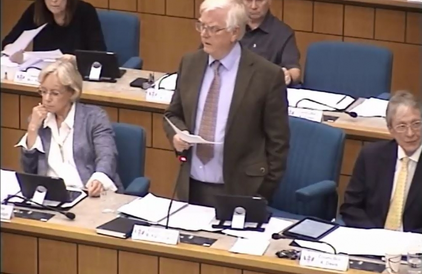 Cllr Fairbank faces the music at Full Council