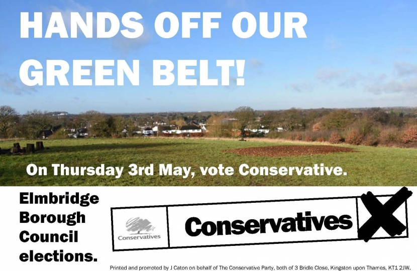Hands off the Green Belt - Vote Conservative