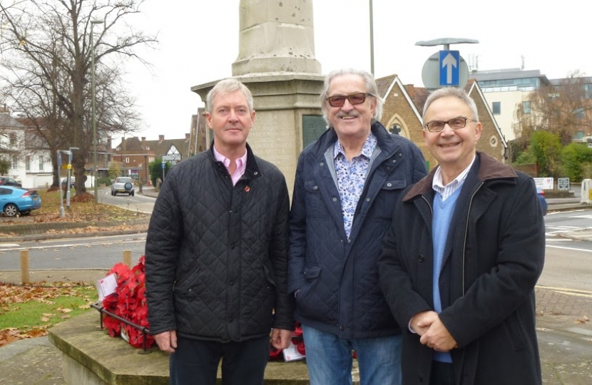 Esher Councillors Tim Oliver, David Archer and Peter Szanto