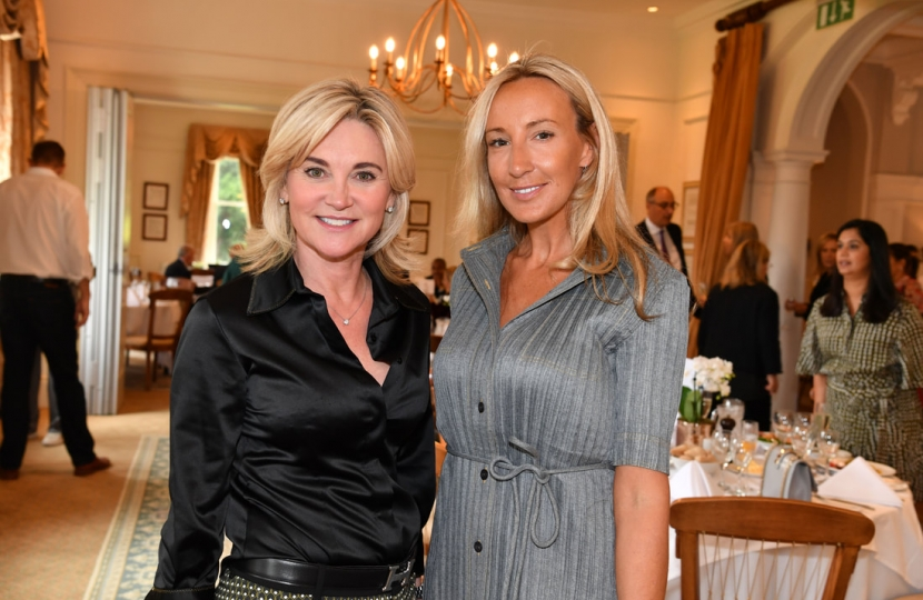 Anthea Turner with EWCWO Chair Elise Dunweber
