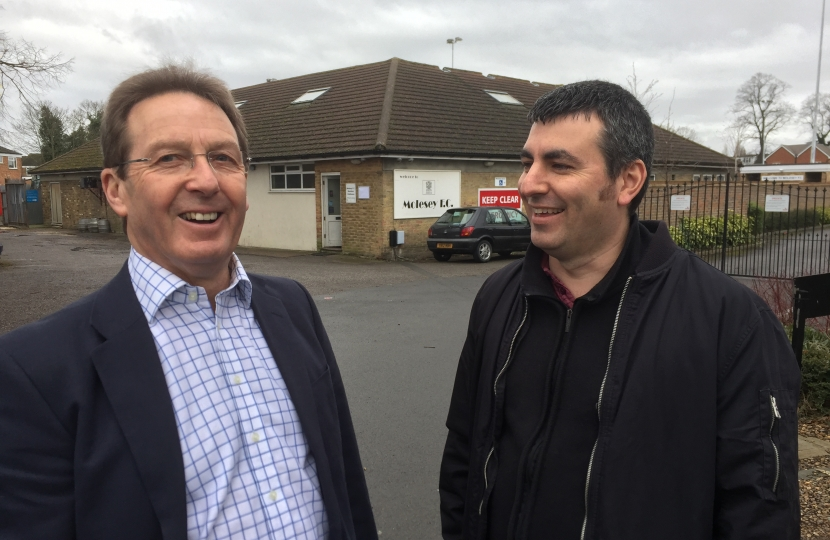 Steve Bax (right) with Paul Wood, West Molesey candidate in 2018