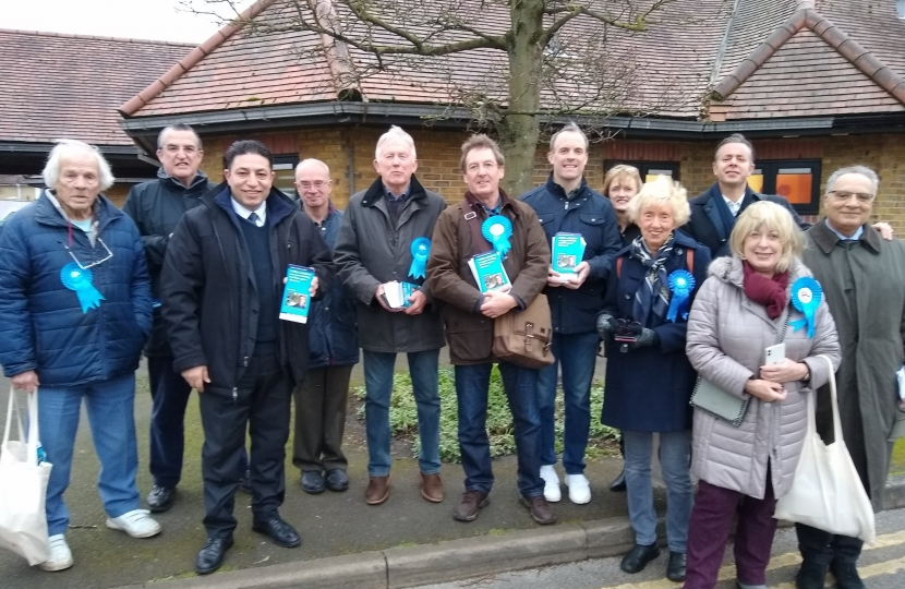 Paul Wood and his team out with Dominic Raab