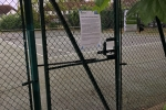 Anyone for tennis? The locked courts at Grovelands Rec, Molesey